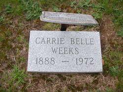 Carrie Belle <I>James</I> Weeks