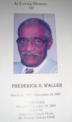 "Frederick Douglas ""Fred"" Waller"