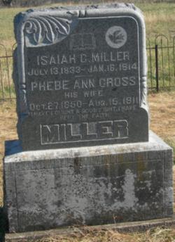 Phebe Ann <I>Cross</I> Miller