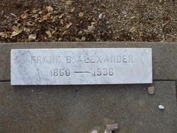 "Franklin B. ""Frank"" Alexander"