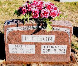 "Martha Melinda ""Mattie"" <I>Chase</I> Hittson"