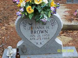 "Juliana Kaye ""K.K."" <I>Hudgins</I> Brown"