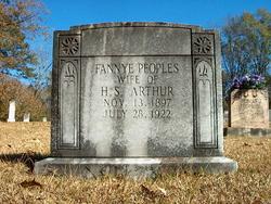 Fannye <I>Peoples</I> Arthur