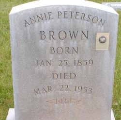 Annie <I>Peterson</I> Brown