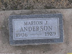 Marion J Anderson