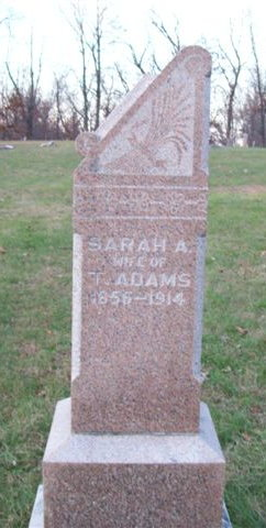 Sarah Ann <I>Cross</I> Adams