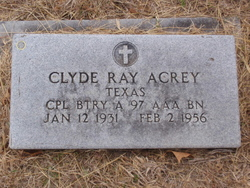 Corp Clyde Ray Acrey
