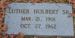 Luther Holbert, Sr
