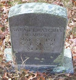 Sarah E. <I>Hatcher</I> Hembree