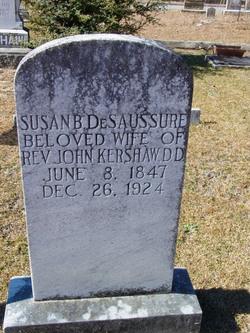 Susan B <I>DeSaussure</I> Kershaw