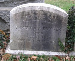 Hannah A. <I>Yerkes</I> Snyder