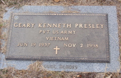 Pvt Geary Kenneth Presley
