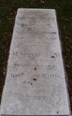 Maj Benjamin Francis Weems