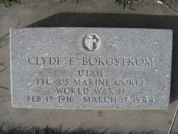 PFC Clyde Eugene Borgstrom