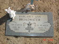 Margaret Ann <I>Pace</I> Broadwater