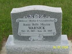 Anna Belle <I>Masten</I> Warnick