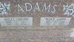Violet Larue <I>Larson</I> Adams