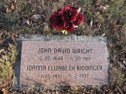 "Joanna Elizabeth ""Ann"" <I>Biddinger</I> Wright"