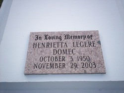 Henrietta M. <I>Legere</I> Domec