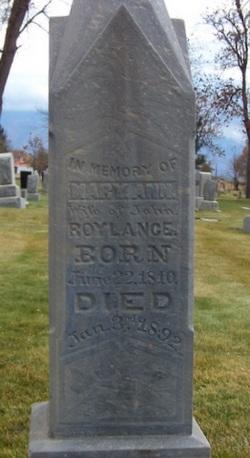 Mary Ann <I>Oakes</I> Roylance