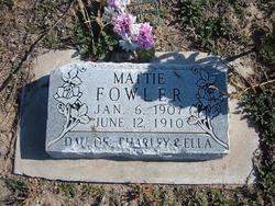 Mattie Fowler