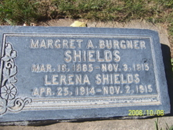 Margaret Agnes <I>Burgener</I> Shields