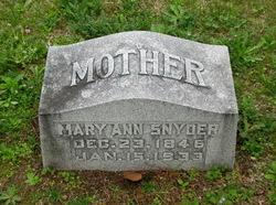 Mary Ann <I>Oatts</I> Snyder