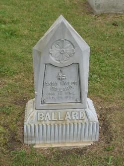 Anna <I>Taylor</I> Ballard