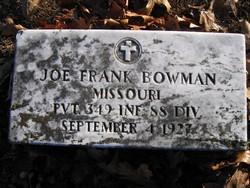 Joe Frank Bowman