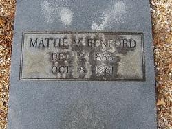 Mattie M. <I>Brewer</I> Benford