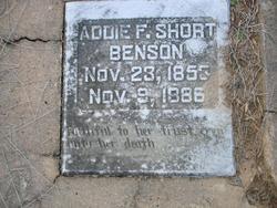 Addie Frances <I>Short</I> Benson