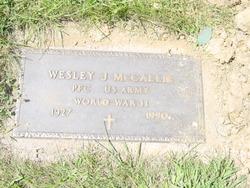 Wesley J McCallie