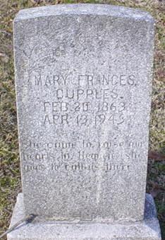Mary Frances <I>Franklin</I> Cupples