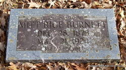 "Millie Ann ""Mitt"" <I>Rice</I> Burnett"