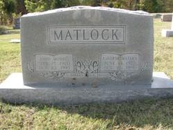 Bertha LaVerne <I>Waters</I> Matlock