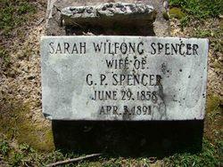 "Sarah Anne ""Kittie Clyde"" <I>Wilfong</I> Spencer"