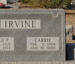 Carrie Beulah <I>Yearwood</I> Irvine