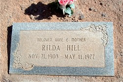 "Surrilda S ""Rilda"" <I>Smith</I> Hill"