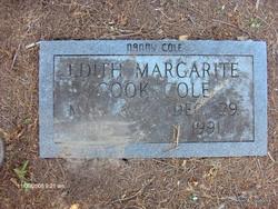 Edith Margarite <I>Cook</I> Cole