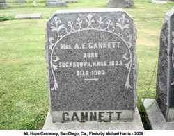 Mrs A E Gannett