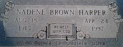 Nadene <I>Harper</I> Brown