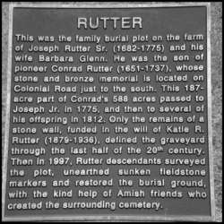 Joseph Rutter and Barbara Glenn Family Graveyard