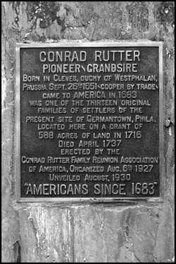 Conrad Rutter Memorial