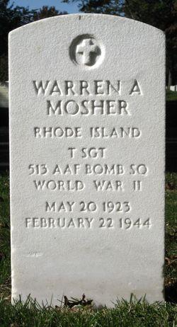 TSGT Warren A Mosher