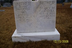 Madora Ann <I>Terrell</I> Cantrell