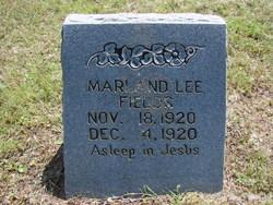 Marland Lee Fields