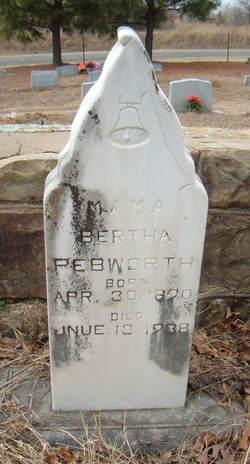 Bertha Pauline <I>McCurtain</I> Pebworth