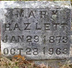 Mary Elizabeth <I>Hooker</I> Hazlett