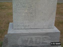 "Harriett E ""Hattie"" <I>Adair</I> Wade"