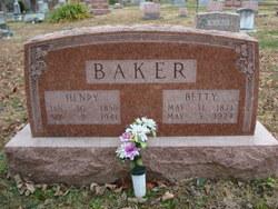 "Mary Elizabeth  Jane ""Betty"" <I>Reed</I> Baker"